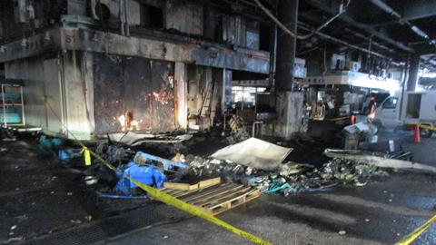 火災現場写真