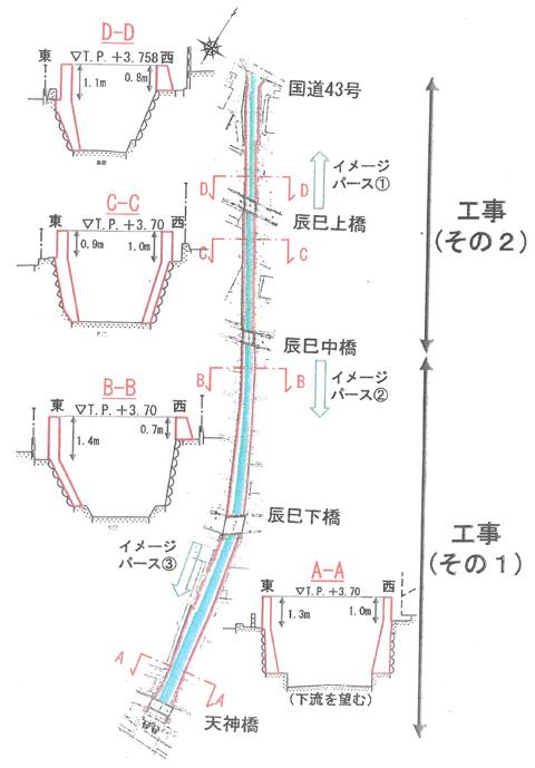 施工予定位置・断面図